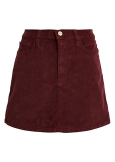 FRAME Le Mini Corduroy Skirt