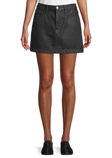 FRAME Le Mini Denim A-Line Skirt