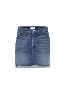 FRAME Le Mini denim miniskirt