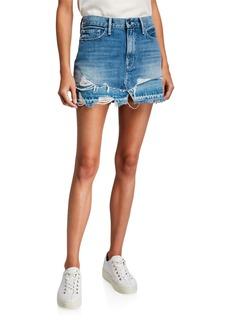 FRAME Le Mini Skirt with Split Released Hem