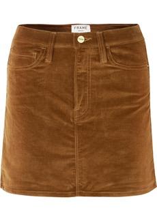 FRAME Le Mini Stretch Cotton-blend Corduroy Mini Skirt