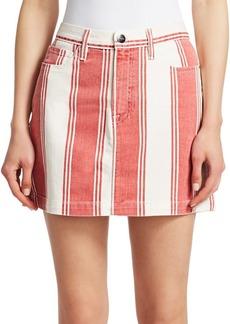 FRAME Le Mini Striped Skirt