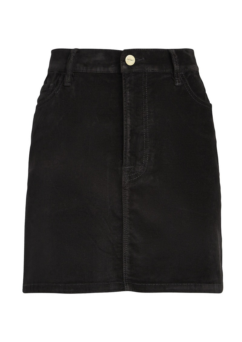 FRAME Le Mini Velveteen Skirt