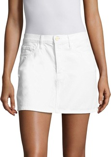 FRAME Le Mini White Denim Skirt