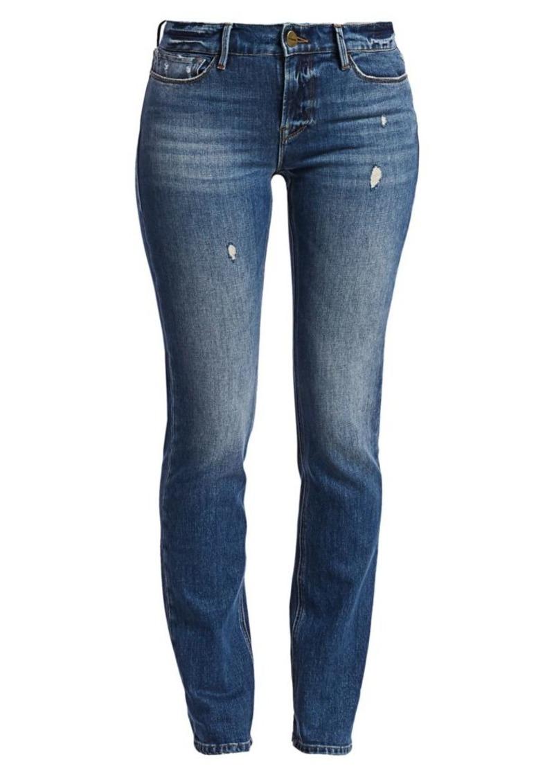 FRAME Le Nik Distressed Skinny Jeans