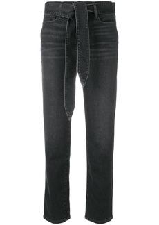 FRAME Le Nouveau belted straight leg jeans