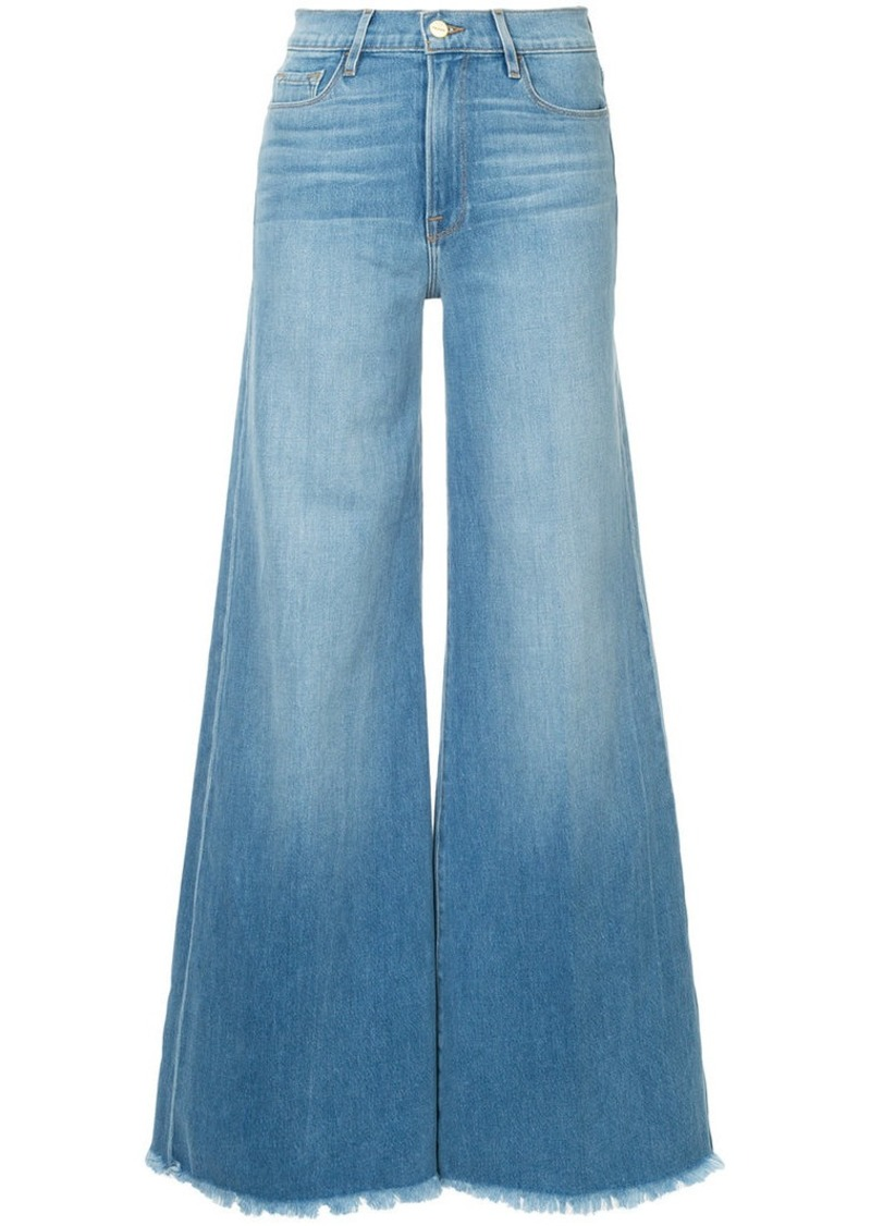 FRAME Le Palazzo raw edge jeans