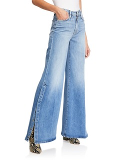 FRAME Le Palazzo Snap Away Wide-Leg Jeans