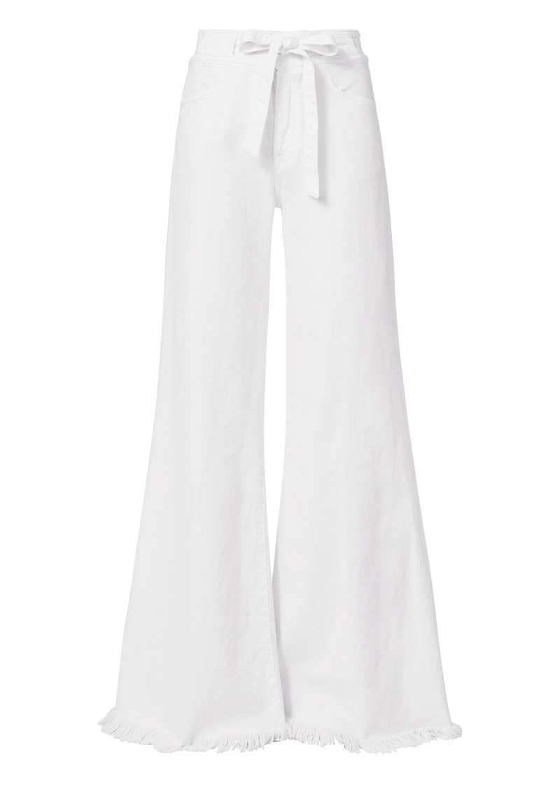 FRAME Le Palazzo Wide Leg White Jeans