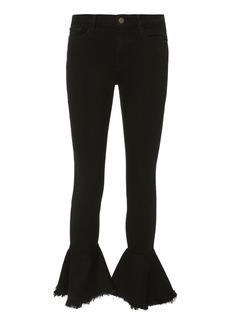 FRAME Le Skinny De Jeanne Flounce Flare Jeans