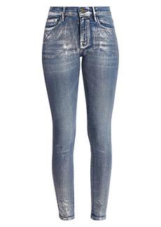 FRAME Le Skinny De Jeanne Foil Jeans