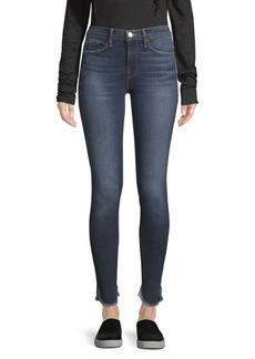 FRAME Le Skinny De Jeanne Frayed Hem Jeans