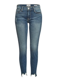 FRAME Le Skinny De Jeanne Front Chew Jeans