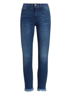 FRAME Le Skinny De Jeanne Raw Hem Cropped Jeans