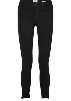 FRAME Le Skinny De Jeanne Raw Stagger Mid-rise Skinny Jeans