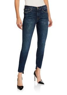FRAME Le Skinny de Jeanne Reverse-Cascade Hem Jeans