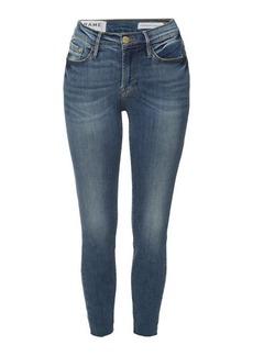FRAME Le Skinny de Jeanne Reverse Cascade Hem Skinny Jeans