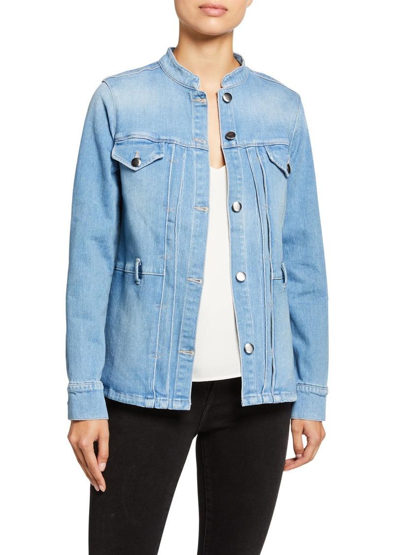 FRAME Le Slender Belted Denim Jacket