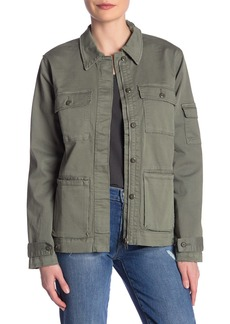 FRAME Le Slouch Distressed Utility Jacket