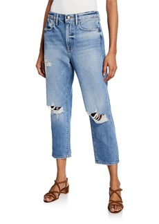 FRAME Le Stevie Cropped Straight-Leg Jeans