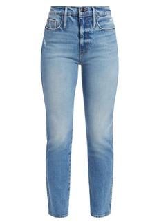 FRAME Le Sylvie High-Rise Crop Straight Jeans