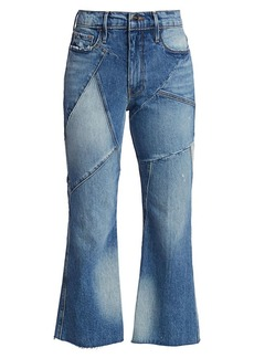 FRAME Le Sylvie Mixed Media High-Rise Kick Bootcut Jeans