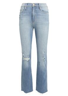 FRAME Le Sylvie Raw-Edge Jeans