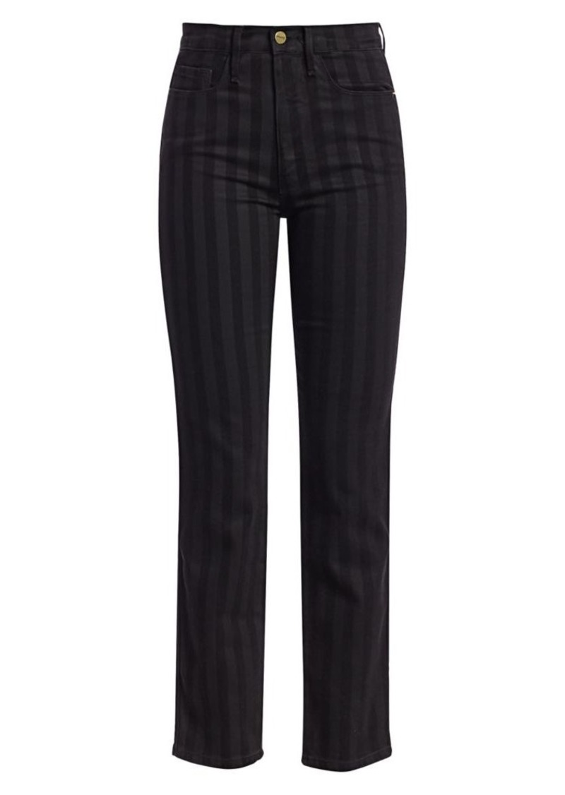 FRAME Le Sylvie Striped Ankle Jeans