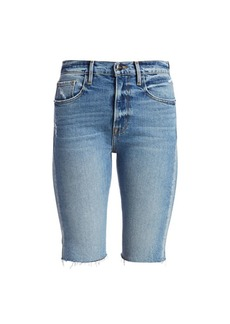 FRAME Le Vintage High-Rise Bermuda Denim Shorts