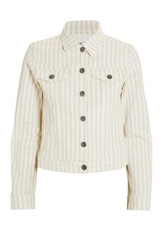FRAME Le Vintage Courtyard Striped Denim Jacket