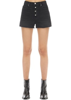 FRAME Le Vintage Raw Denim Shorts