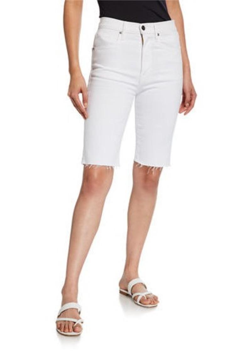 FRAME Le Vintage Raw Edge Bermuda Shorts