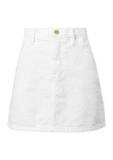 FRAME Le White Mini Skirt