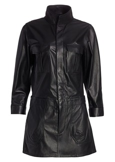 FRAME Leather Cargo Dress