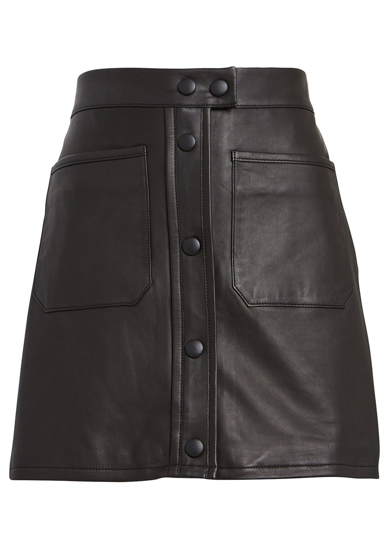FRAME Leather Patch Pocket Mini Skirt