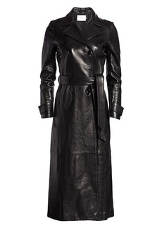 FRAME Leather Trench Coat