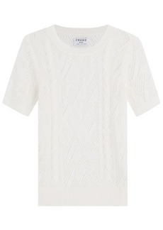 FRAME Linen Knit Top