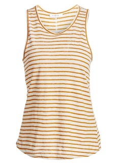 FRAME Linen Striped Tank Top