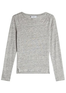 FRAME Long Sleeved Linen Top