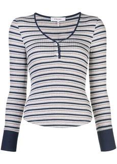 FRAME long-sleeved striped T-shirt