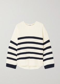 FRAME Mariner Striped Organic Cotton Sweater