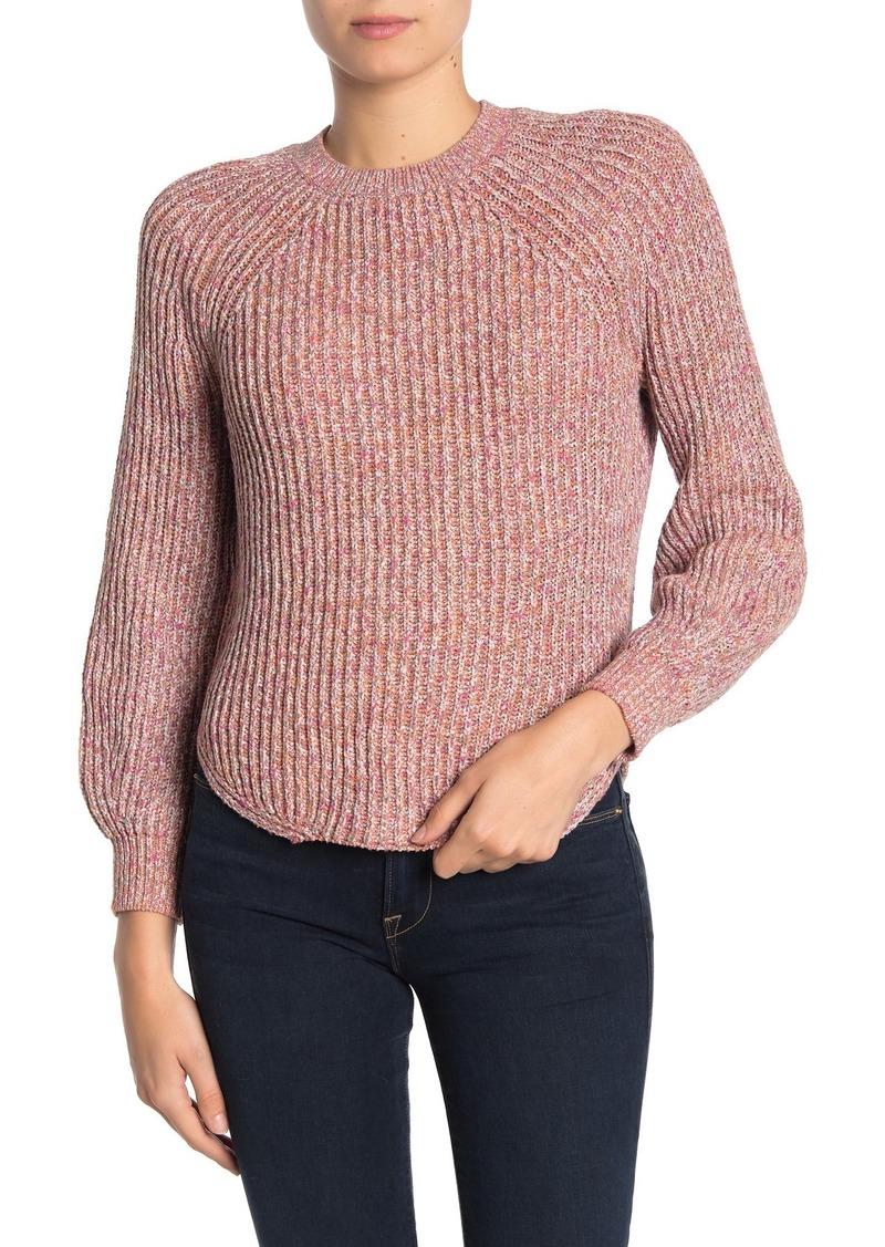 FRAME Marled Knit Crew Neck Sweater