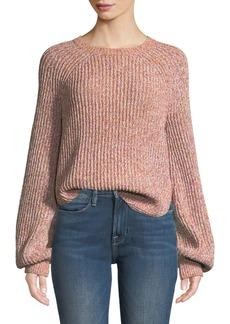 FRAME Marled Raglan Crewneck Pullover Sweater