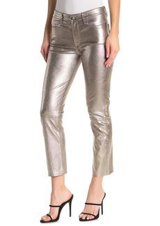 FRAME Metallic Straight Leg Pants