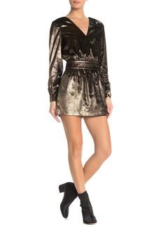 FRAME Metallic Velour Dress