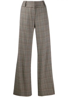 FRAME Metropolitan checkered palazzo trousers