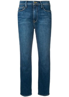FRAME mid rise straight jeans