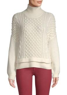 FRAME Nubby Wool-Blend Sweater