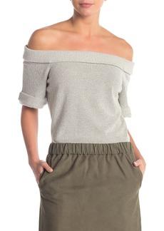 FRAME Off-the-Shoulder Knit Sweater