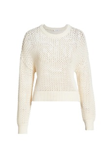 FRAME Open Knit Crewneck Sweater